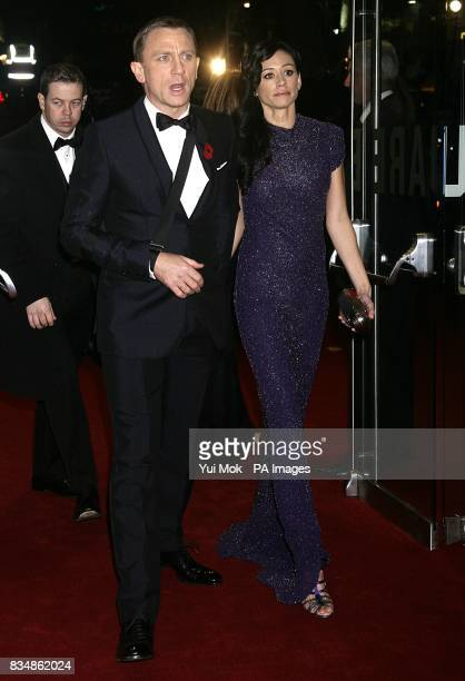 Daniel Craig and Satsuki Mitchell arrives for the World premiere of 'Quantum Of Solace' at the Odeon Leicester Square WC2