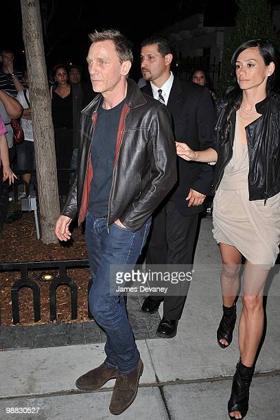 Daniel Craig and Satsuki Mitchell attend the Costume Institute Gala after party at the Mark hotel on May 3 2010 in New York City