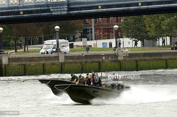 Daniel Craig arriving at HMS President during Daniel Craig Unveiled as the New James Bond in 'Casino Royale' Photocall in London Great Britain