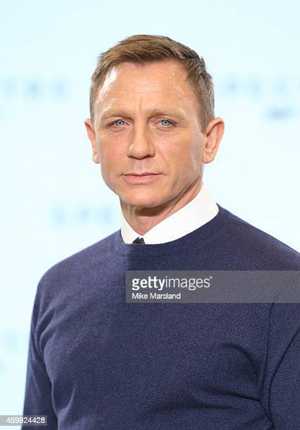 Daniel Craig attends a photocall for Bond 24 at Pinewood Studios on December 4 2014 in Iver Heath England