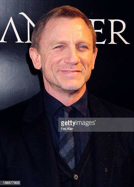 Daniel Craig attends the 'Millenium The Girl With The Dragon Tattoo' Paris Premiere at UGC Normandie on January 3 2012 in Paris France