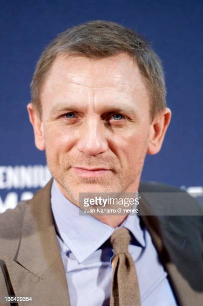 Daniel Craig attends the 'Millennium The Girl With The Dragon Tattoo' premiere at Callao Cinema on January 4 2012 in Madrid Spain
