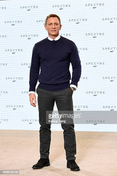 Daniel Craig attends the photocall to announce the start of the production of the 24th Bond Film 'Spectre' at Pinewood Studios on December 4 2014 in...