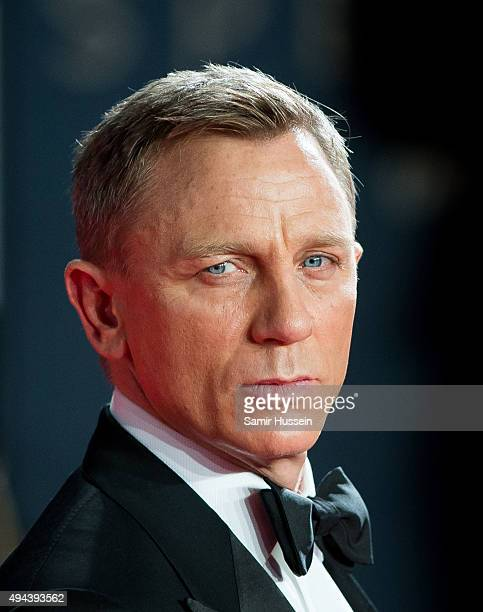 Daniel Craig attends the Royal Film Performance of 'Spectre' at Royal Albert Hall on October 26 2015 in London England