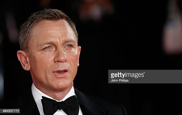 Daniel Craig attends the Royal Film Performance of 'Spectre'at Royal Albert Hall on October 26 2015 in London England