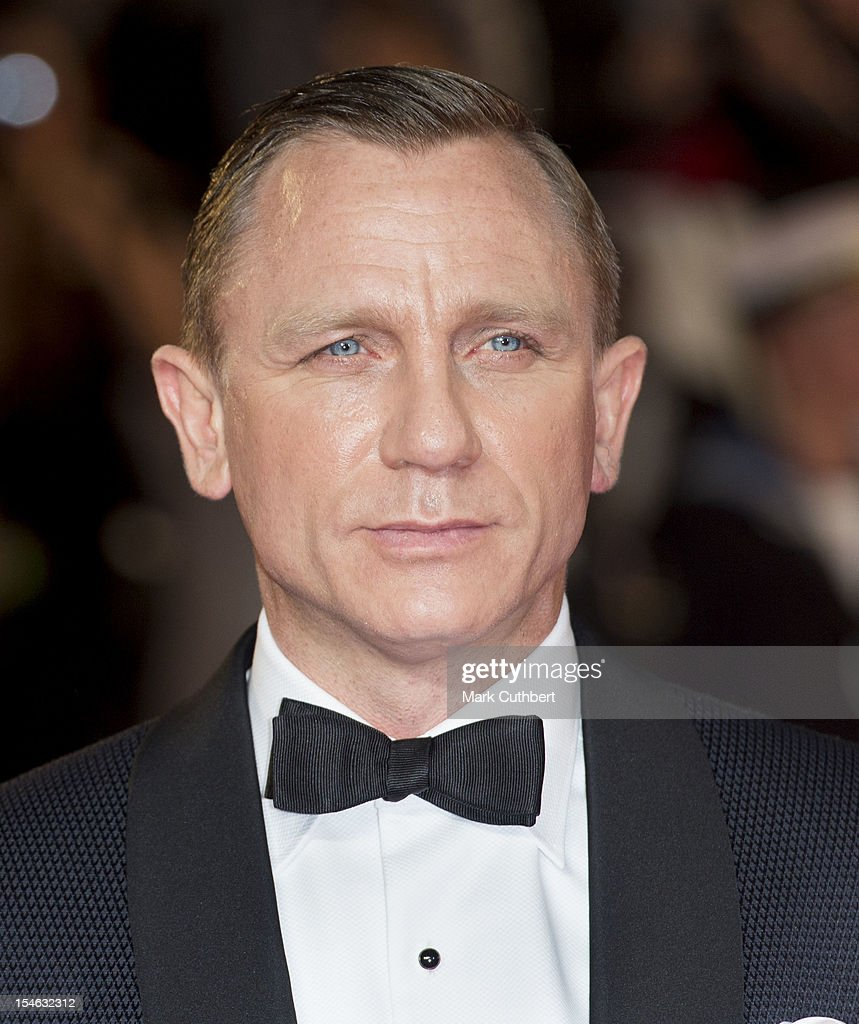 Daniel Craig attends the Royal World Premiere of 'Skyfall' at Royal Albert Hall on October 23 2012 in London England