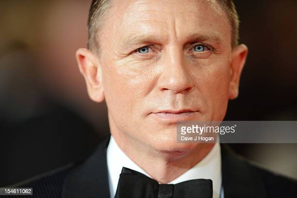 Daniel Craig attends the Royal world premiere of 'Skyfall' at The Royal Albert Hall on October 23 2012 in London England