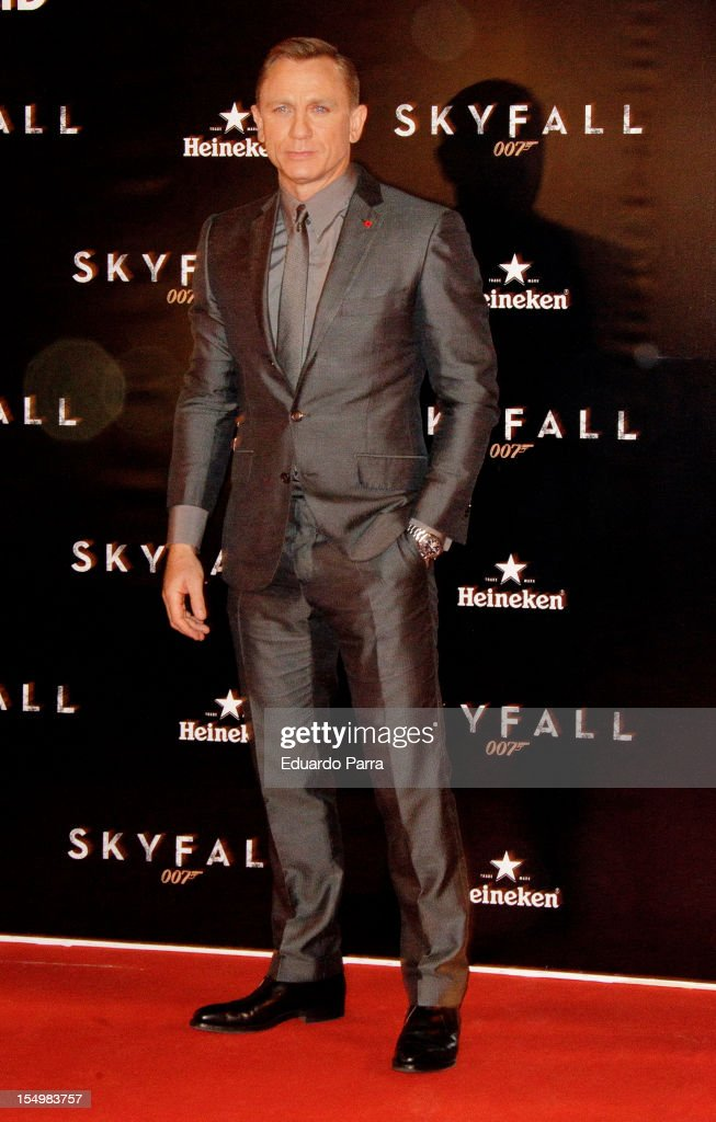 Daniel Craig attends the 'Skyfall' photocall premiere at Santa Ana Square on October 29, 2012 in Madrid, Spain.