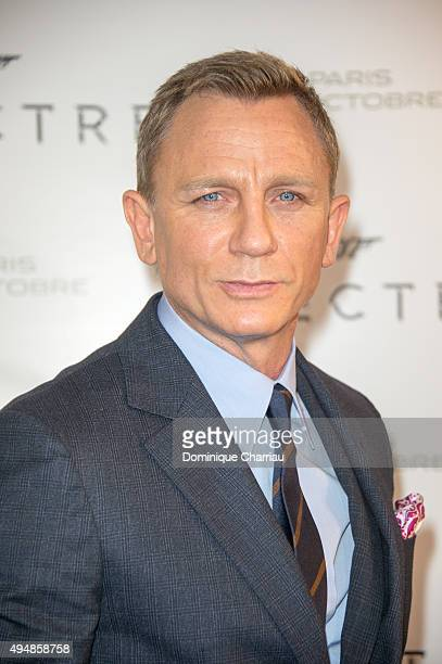 Daniel Craig attends the 'Spectre' Paris Premiere at Le Grand Rex on October 29 2015 in Paris France