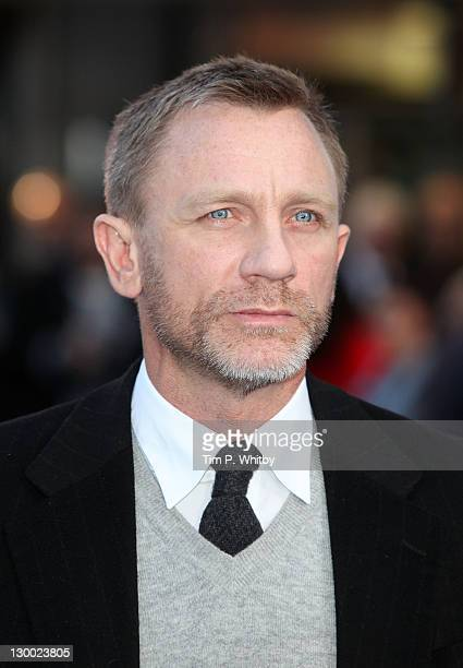 Daniel Craig attends the UK premiere of The Adventures Of Tintin The Secret Of The Unicorn at Odeon West End in Leicester Square on October 23 2011...