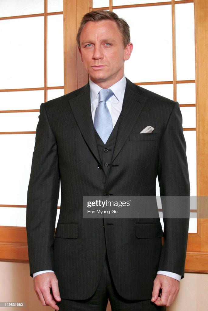 Daniel Craig during 'Casino Royale' Portrait Session in Seoul at Shilla Hotel in Seoul South Korea