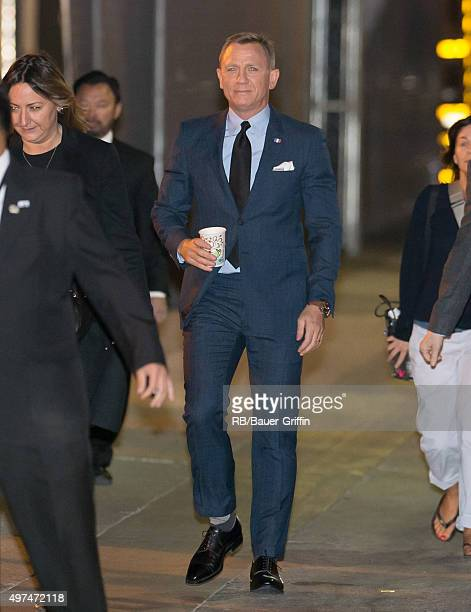 Daniel Craig is seen at 'Jimmy Kimmel Live' on November 16 2015 in Los Angeles California
