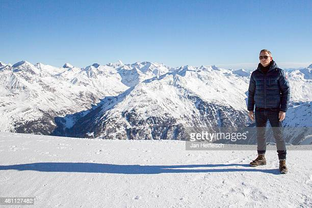 Daniel Craig poses at the photo call for the 24th Bond film 'Spectre' at ski resort on January 7 2015 in Soelden Austria