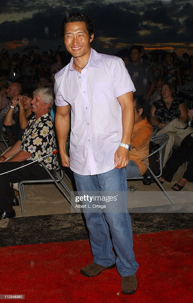 Daniel Dae Kim during 'Lost' Season 2 Premiere - Arrivals in Waikiki, Hawaii, United States.