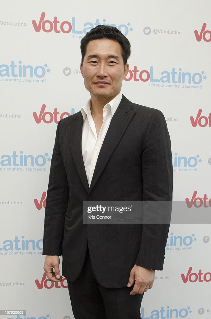 daniel Dae Kim poses for a photo during the 4th Annual Our Voices: Celebrating Diversity in Media reception to benefit Voto Latino at The Hay-Adams on April 26, 2013 in Washington, DC.