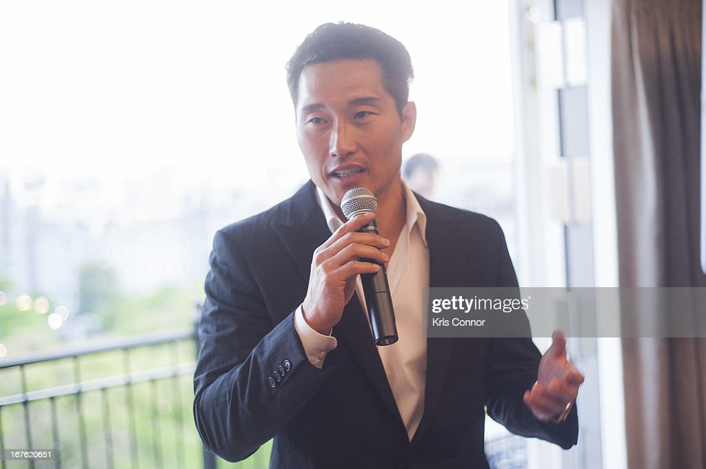 <a gi-track='captionPersonalityLinkClicked' href=/galleries/search?phrase=Daniel+Dae+Kim&family=editorial&specificpeople=581168 ng-click='$event.stopPropagation()'>Daniel Dae Kim</a> speaks during the 4th Annual Our Voices: Celebrating Diversity in Media reception to benefit Voto Latino at The Hay-Adams on April 26, 2013 in Washington, DC.