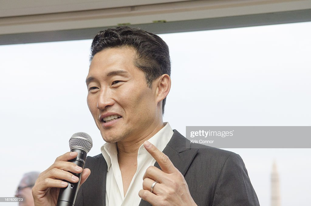 Daniel dae Kim speaks during the 4th Annual Our Voices: Celebrating Diversity in Media reception to benefit Voto Latino at The Hay-Adams on April 26, 2013 in Washington, DC.