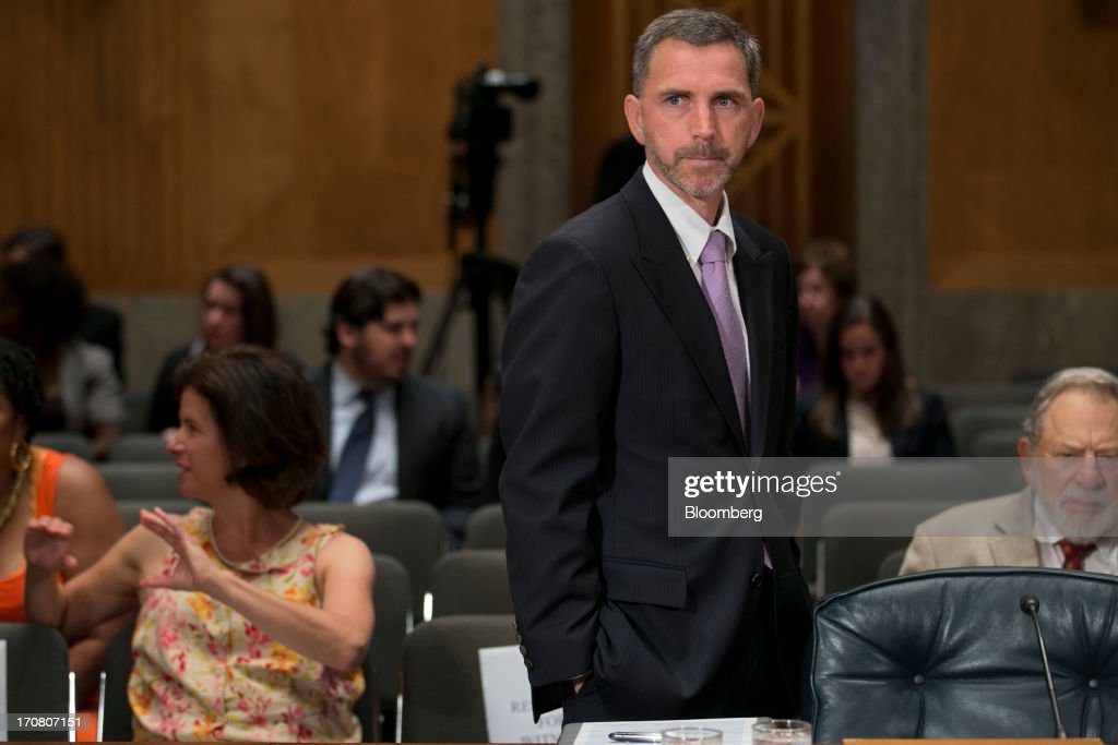 Daniel 'Dan' Tangherlini, acting administrator of the General Services Administration (GSA) and U.S. President Barack Obama's nominee as administrator of the GSA, arrives to a Senate Homeland Security and Governmental Affairs nomination hearing in Washington, D.C., U.S., on Tuesday, June 18, 2013. Tangherlini has been GSA acting administrator since April 2012, after then-GSA Administrator Martha Johnson resigned following the release of an inspector general report detailing lavish spending at a 2010 GSA regional conference in Las Vegas. Photographer: Andrew Harrer/Bloomberg via Getty Images