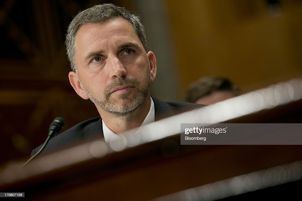 Daniel 'Dan' Tangherlini, acting administrator of the General Services Administration (GSA) and U.S. President Barack Obama's nominee as administrator of the GSA, listens during a Senate Homeland Security and Governmental Affairs nomination hearing in Washington, D.C., U.S., on Tuesday, June 18, 2013. Tangherlini has been GSA acting administrator since April 2012, after then-GSA Administrator Martha Johnson resigned following the release of an inspector general report detailing lavish spending at a 2010 GSA regional conference in Las Vegas. Photographer: Andrew Harrer/Bloomberg via Getty Images