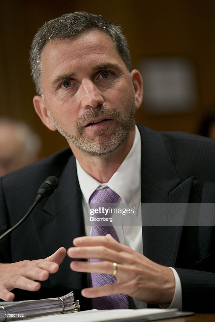 Daniel 'Dan' Tangherlini, acting administrator of the General Services Administration (GSA) and U.S. President Barack Obama's nominee as administrator of the GSA, speaks during a Senate Homeland Security and Governmental Affairs nomination hearing in Washington, D.C., U.S., on Tuesday, June 18, 2013. Tangherlini has been GSA acting administrator since April 2012, after then-GSA Administrator Martha Johnson resigned following the release of an inspector general report detailing lavish spending at a 2010 GSA regional conference in Las Vegas. Photographer: Andrew Harrer/Bloomberg via Getty Images