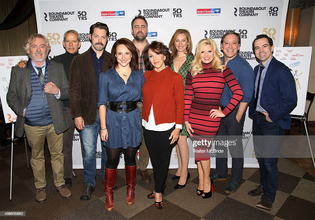 Daniel Davis Campbell Scott Tracee Chimo Jeremy Herrin Andrea Martin Kate Jennings Grant Megan Hilty Jeremy Shamos and Rob McClure attend the photo...