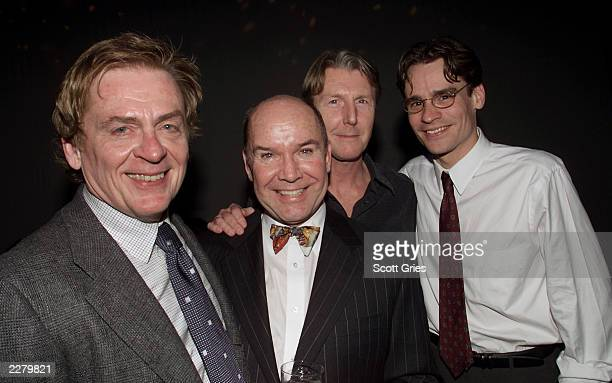 Daniel Davis Jack O'Brien Byron Jennings and Robert Sean Leonard at the opening party for Tom Stoppard's new play 'The Invention of Love' at the...
