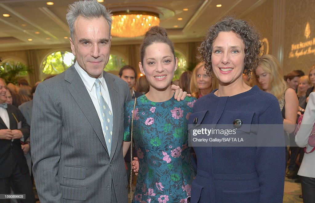 Daniel Day Lewis and Marion Cotillard attend the BAFTA Los Angeles 2013 Awards Season Tea Party held at the Four Seasons Hotel Los Angeles on January 12, 2013 in Los Angeles, California.