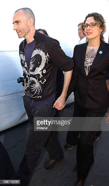 Daniel Day Lewis and Rebecca Miller during The 18th Annual IFP Independent Spirit Awards Backstage at Santa Monica Beach in Santa Monica California...