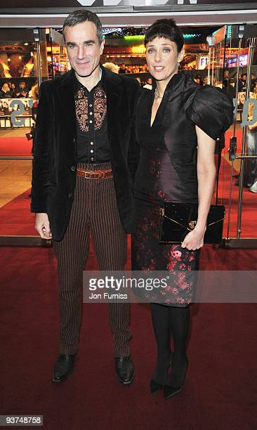 Daniel Day Lewis and wife Rebecca Miller attends the 'Nine' world film premiere at the Odeon Leicester Square on December 3 2009 in London England