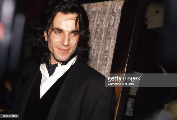 Daniel Day Lewis poses for a photo at the New York Film Critics Awards on January 14 1990 at Sardi's restaurant in New York City New York