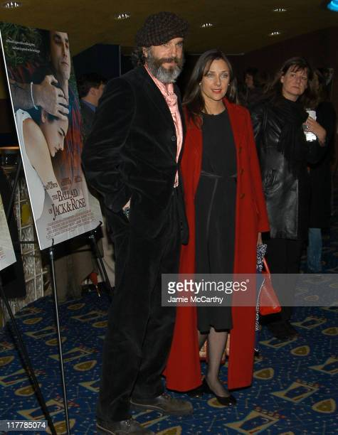 Daniel DayLewis and Rebecca Miller director during 'The Ballad of Jack and Rose' IFC Film's New York Premiere Inside Arrivals at Chelsea Cinema in...