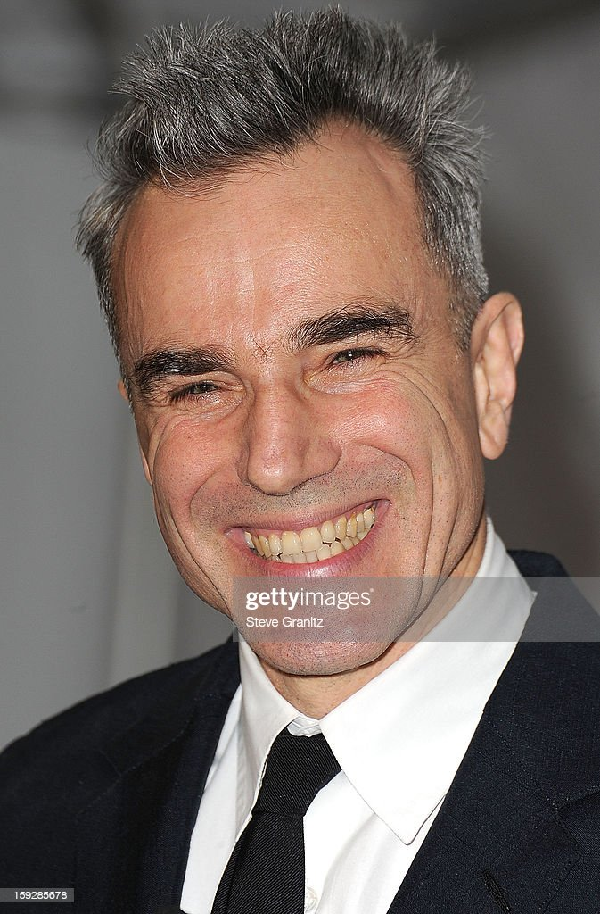 Daniel Day-Lewis arrives at the 18th Annual Critics' Choice Movie Awards at The Barker Hangar on January 10, 2013 in Santa Monica, California.
