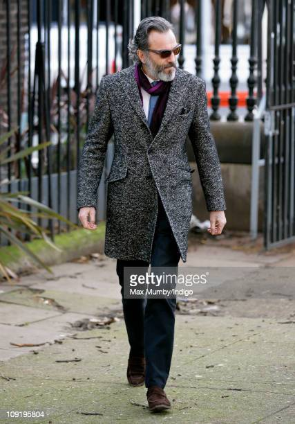 Daniel DayLewis attends a memorial service for actor Pete Postlethwaite who died on 2nd January 2011 at St Leonard's Church in Shoreditch on February...
