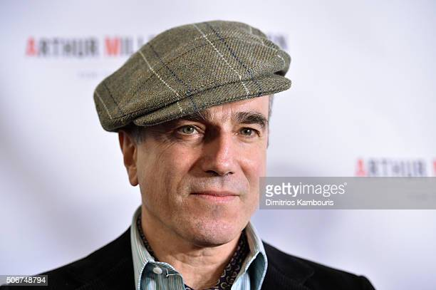 Daniel DayLewis attends Arthur Miller One Night 100 Years Benefit at Lyceum Theatre on January 25 2016 in New York City