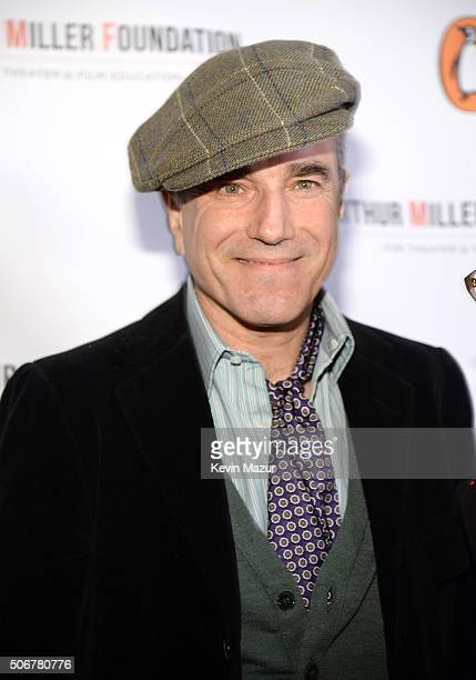 Daniel DayLewis attends the Arthur Miller One Night 100 Years Benefit at Lyceum Theatre on January 25 2016 in New York City