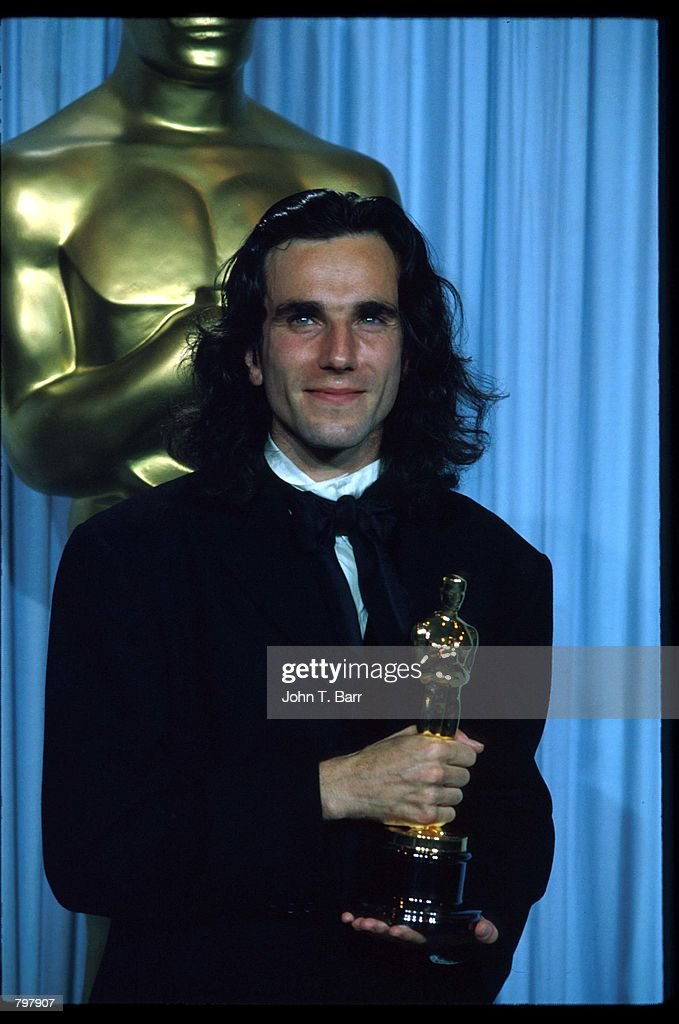 Daniel Day-Lewis stands backstage during the 62nd Academy Awards ceremony March 26, 1990 in Los Angeles, CA. Daniel Day-Lewis received an Oscar for Best Actor in a Leading Role for his role as Christy Brown in 'My Left Foot.'