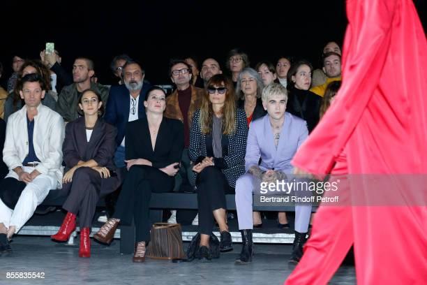 Daniel de la Falaise Delfina Delettrez MarieAgnes Gillot Caroline de Maigret and GabrielKane DayLewis attend the Haider Ackermann show as part of the...