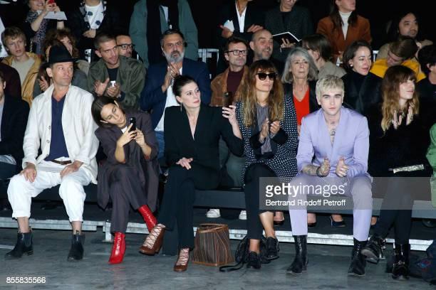 Daniel de la Falaise Delfina Delettrez MarieAgnes Gillot Caroline de Maigret GabrielKane DayLewis and Lou Doillon attend the Haider Ackermann show as...