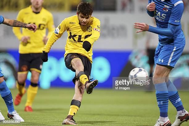 Daniel De Silva of Roda JC during the Dutch Eredivisie match between Roda JC Kerkrade and AZ Alkmaar at the Parkstad Limburg stadium on January 2016...