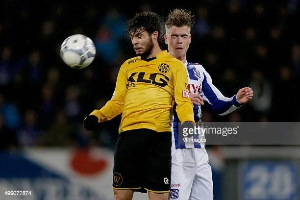 Daniel de Silva of Roda JC Joost van Aken of sc Heerenveen during the Dutch Eredivisie match between sc Heerenveen and Roda JC Kerkrade at Abe...