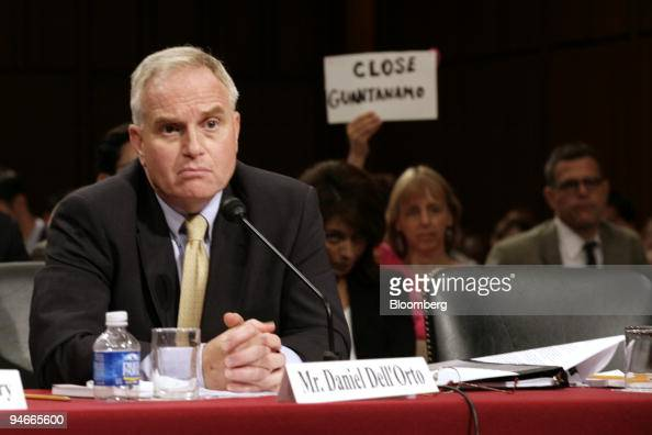 Daniel Dell'Orto Principal Deputy General Counsel Defense Department waits to speak before the Senate Judiciary Committee during a hearing titled...
