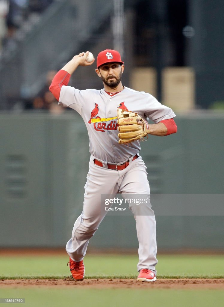 <a gi-track='captionPersonalityLinkClicked' href=/galleries/search?phrase=Daniel+Descalso&family=editorial&specificpeople=6800752 ng-click='$event.stopPropagation()'>Daniel Descalso</a> #33 of the St. Louis Cardinals in action against the San Francisco Giants at AT&T Park on July 1, 2014 in San Francisco, California.