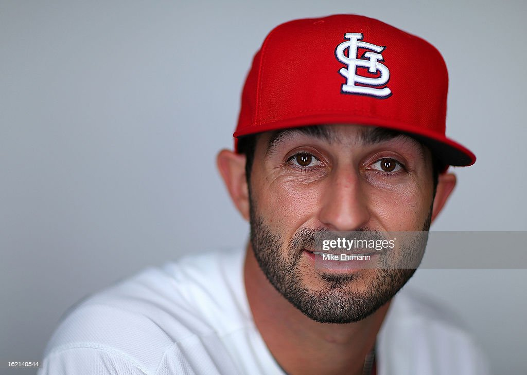 Daniel Descalso #33 of the St. Louis Cardinals poses during photo day at Roger Dean Stadium on February 19, 2013 in Jupiter, Florida.
