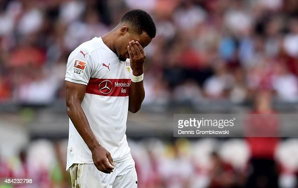 Daniel Didavi of VfB Stuttgart looks dejected during the Bundesliga match between VfB Stuttgart and 1 FC Koeln at MercedesBenz Arena on August 16...