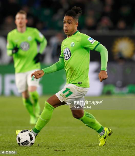 Daniel Didavi of VfL Wolfsburg runs with the ball during the Bundesliga match between VfL Wolfsburg and Werder Bremen at Volkswagen Arena on February...