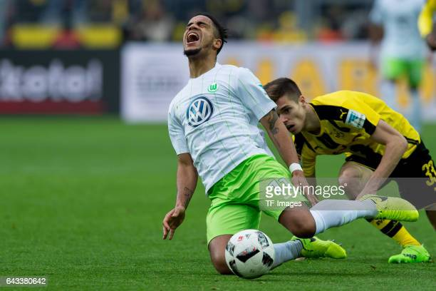 Daniel Didavi of Wolfsburg battle for the ball during the Bundesliga match between Borussia Dortmund and VfL Wolfsburg at Signal Iduna Park on...