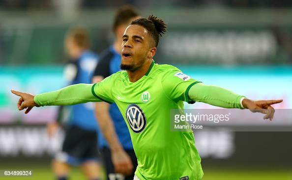 Daniel Didavi of Wolfsburg celebrates after scoring his teams second goal during the Bundesliga match between VfL Wolfsburg and TSG 1899 Hoffenheim...