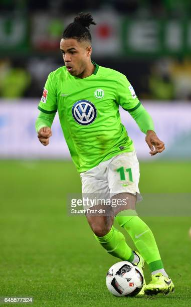 Daniel Didavi of Wolfsburg in action during the Bundesliga match between VfL Wolfsburg and Werder Bremen at Volkswagen Arena on February 24 2017 in...