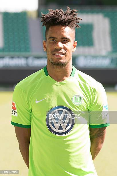 Daniel Didavi poses during the official team presentation of VfL Wolfsburg at Volkswagen Arena on September 14 2016 in Wolfsburg Germany