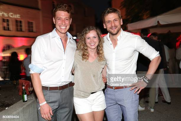 Daniel Donskoy Cornelia Groeschel and Steve Windolf during the 'Audi Director's cut' Party during the Munich film festival at Praterinsel on June 24...